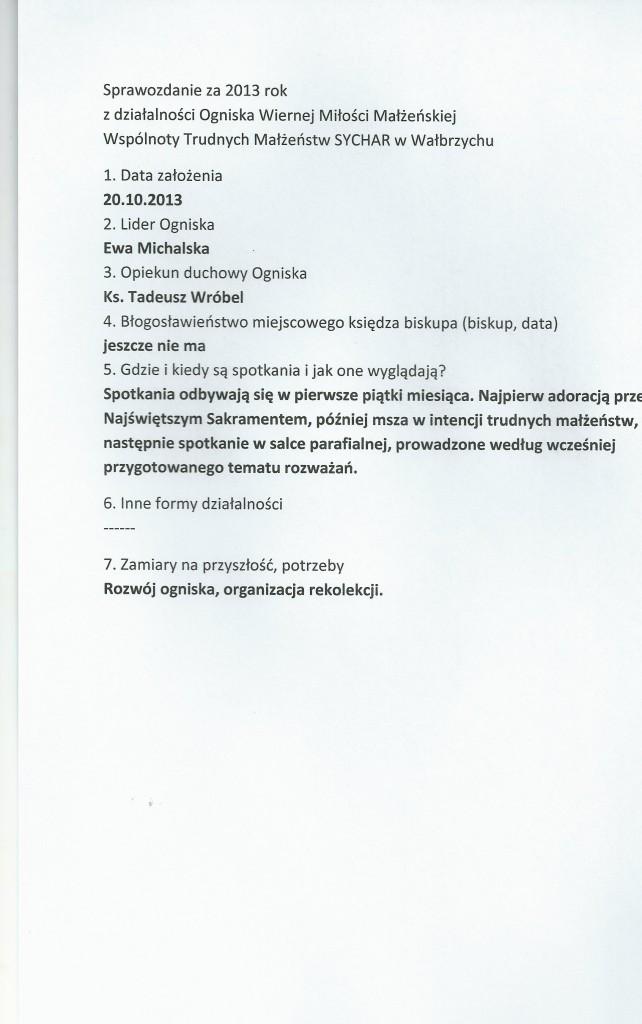Sprawozdanie za 2013 r